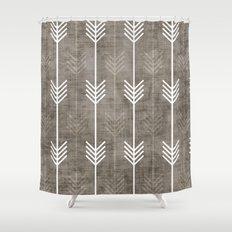 dirty arrows Shower Curtain
