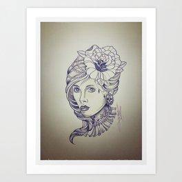 1950 Death Of Beauty Art Print
