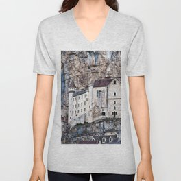 MEDIEVAL SOUND of ROCAMADOUR Unisex V-Neck