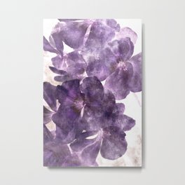 Purple Blossoming Metal Print