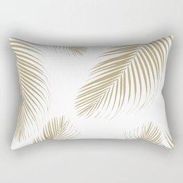 Palm Leaves - Gold Cali Vibes #3 #tropical #decor #art #society6 Rectangular Pillow