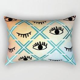 Original Colorful Eyes Design Rectangular Pillow