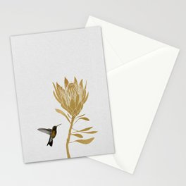 Hummingbird & Flower I Stationery Cards