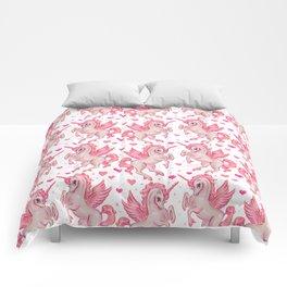 Pink Unicorn Pegasus Comforters