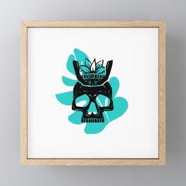 King of No Body - Monstera I Framed Mini Art Print