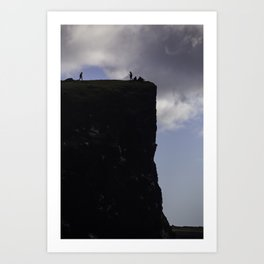 Iceland Cliff Art Print