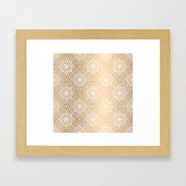 Gold Mandala 18 Framed Art Print
