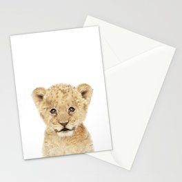 Baby Lion Cub Portrait Stationery Cards