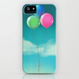 Balloons In The Sky iPhone Case