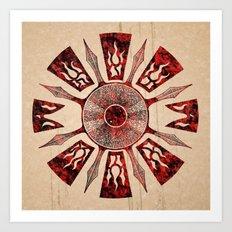 dashása redstone mandala Art Print