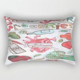 Know Your Groceries Rectangular Pillow