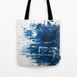 Tranquil: a minimal, abstract piece in blue by Alyssa Hamilton Art Tote Bag