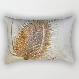 Textured Wild Teasel Rectangular Pillow