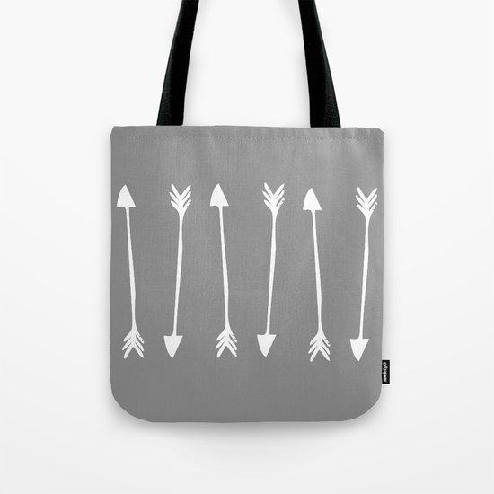 Grey Arrows Tote Bag