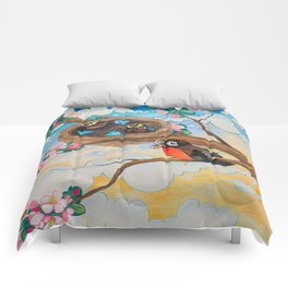 Spring: Mother Robin Comforters