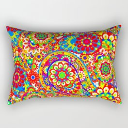 paisley pattern bright home decor Rectangular Pillow