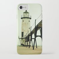 michigan iPhone & iPod Cases featuring Manistee Light by Olivia Joy StClaire