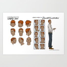 Lord Fox character design Art Print