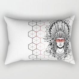 Geometric Indian Rectangular Pillow