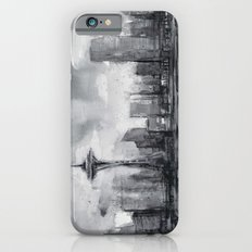 Seattle Skyline Painting Watercolor Black and White Space Needle Slim Case iPhone 6s