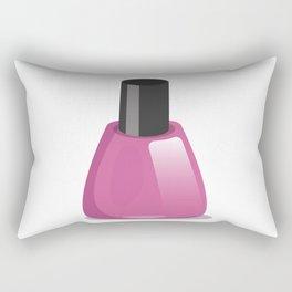 Nail Polish Bottle Rectangular Pillow