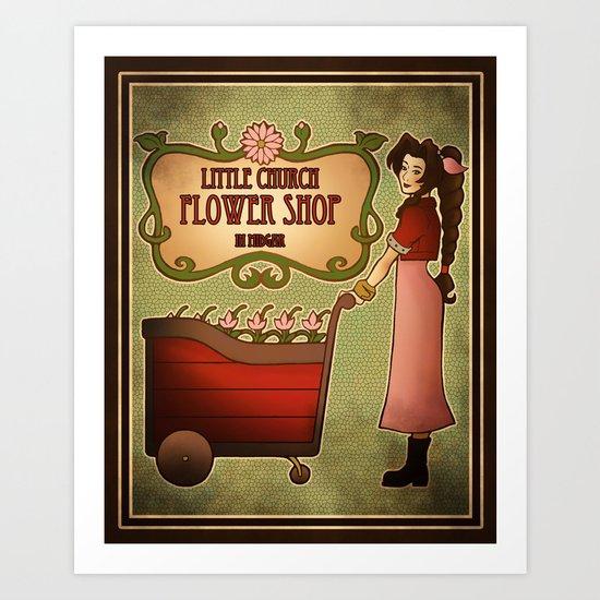 Midgar Flower Shop Art Print