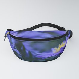 Blue Mums with Yellow Centers Fanny Pack