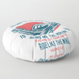 carry on muscle car Floor Pillow