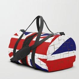 Union Flag With Big Ben Tiled Duffle Bag