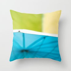 Summer Umbrella Throw Pillow