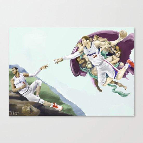 Chris Paul, Point God Canvas Print