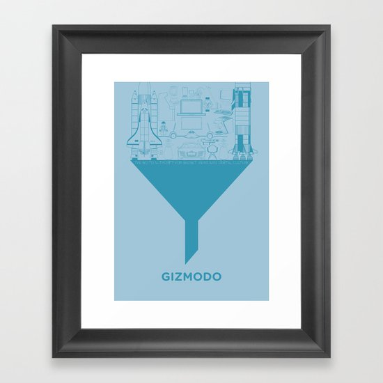 Essence Of Gizmodo Framed Art Print