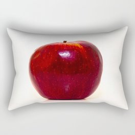 Red apple on white background Rectangular Pillow