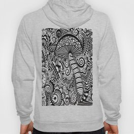 Magic Mushroom Black and white Hoody