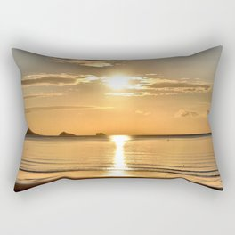 Thatcher Rock Sunrise Rectangular Pillow