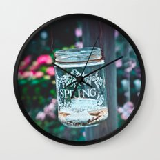 SPRING IN A JAR Wall Clock