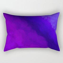 Deep Dark Abyss - Ultra Violet Ombre Abstract Rectangular Pillow