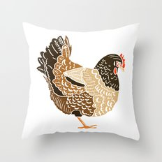 Three French Hens Throw Pillow