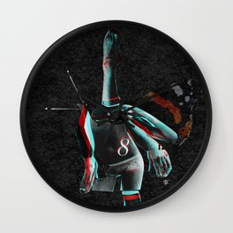 Build a Woman - Cut and Glue · Miss R · the dark side · dark ground Wall Clock