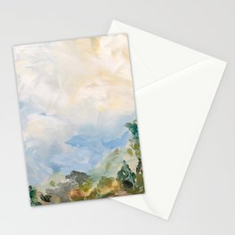 original abstract landscape painting number 16 Stationery Cards