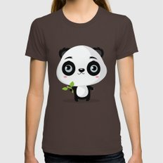 Panda Brown Womens Fitted Tee X-LARGE