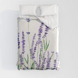 lavender watercolor horizontal Duvet Cover