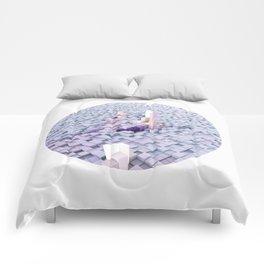 White coating Comforters