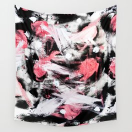 Red birds upon snowy branches Wall Tapestry