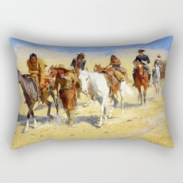 "Frederic Remington Art ""Pony Tracks In the Buffalo Trail"" Rectangular Pillow"
