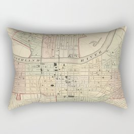 Vintage Map of Nashville Tennessee (1877) Rectangular Pillow