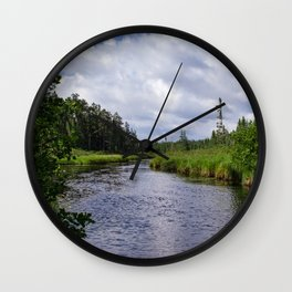 Boundary Waters Entry Point Wall Clock