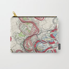 Vintage Map of the Mississippi River Carry-All Pouch