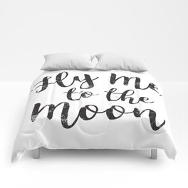 Fly Me To The Moon Comforters
