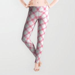 Pink and White Tartan Leggings